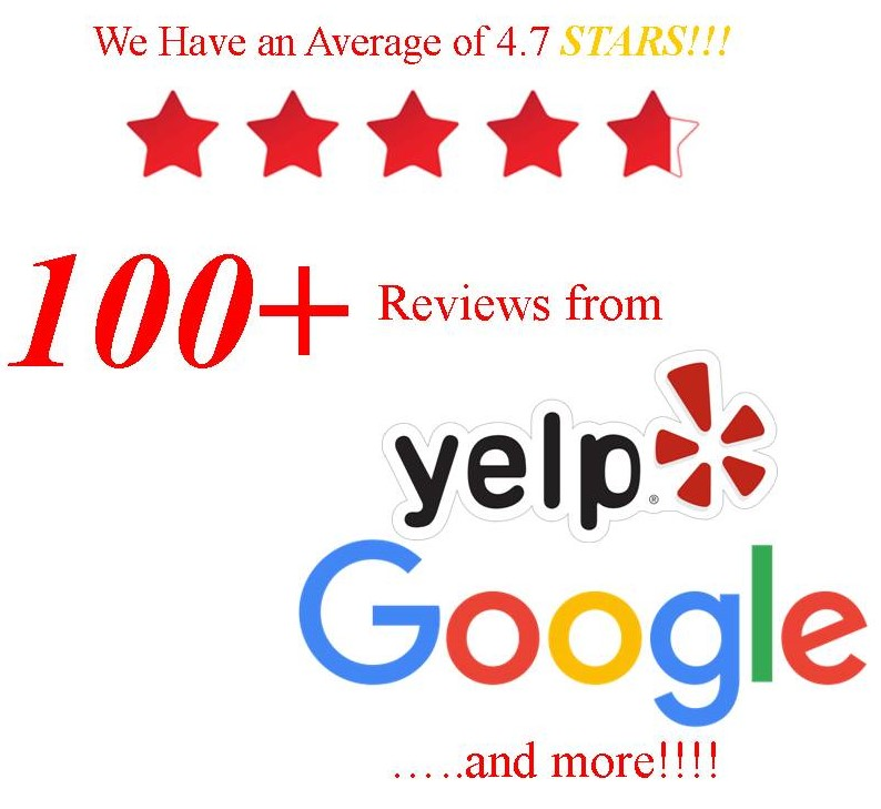 4.8 Stars with over 100 Goole Reviews